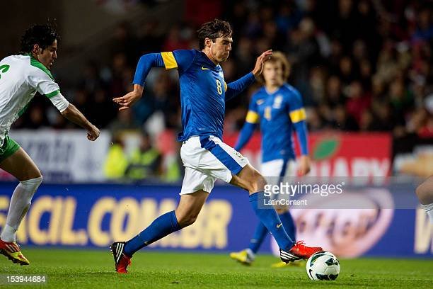 Kaká of Brazil runs with the ball during a FIFA friendly match between Brazil and Iraq at Swedbank Stadium on October 10 2012 in Malmö Sweden