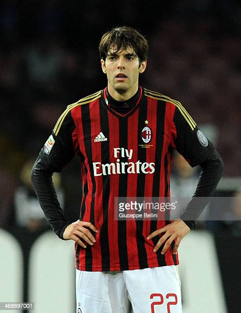 Kakà of Milan during the Serie A match between SSC Napoli and AC Milan at Stadio San Paolo on February 8 2014 in Naples Italy