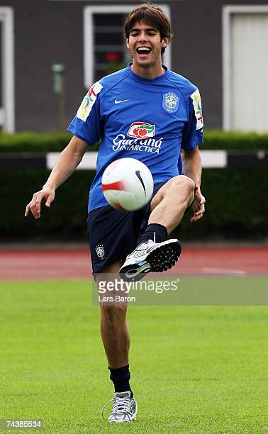 Kaka in action during a Brazil National Team training session at Sportschule Kaiserau on June 3 2007 in Kamen Germany