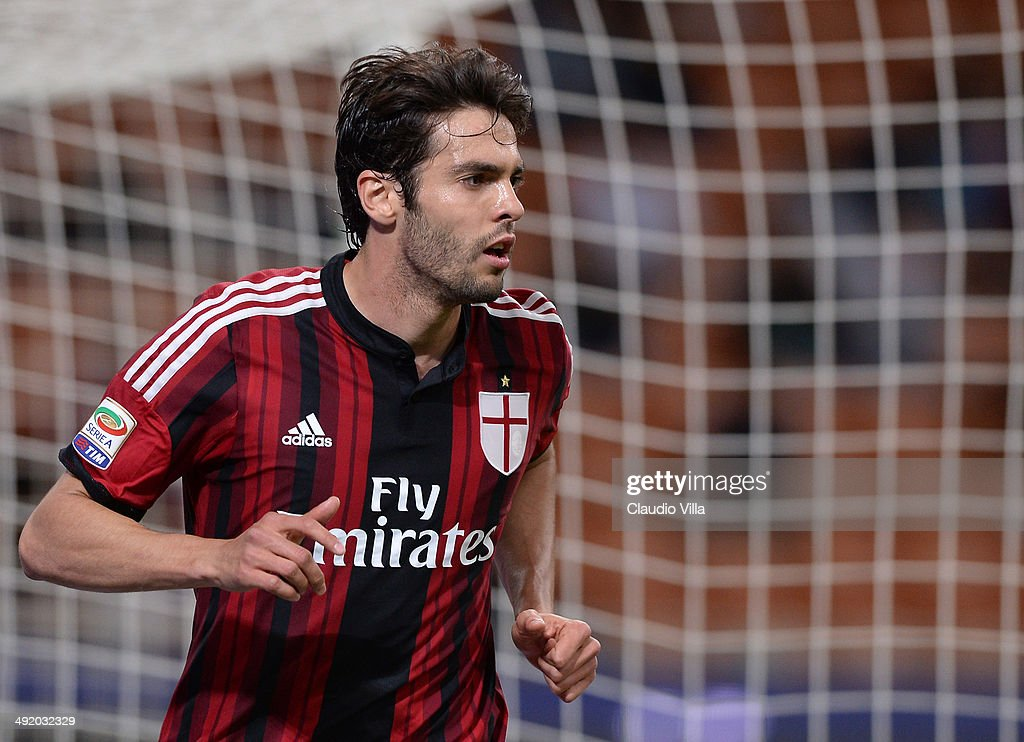 Kaka of AC Milan during the Serie A match between AC Milan and US Sassuolo Calcio at San Siro Stadium on May 18 2014 in Milan Italy