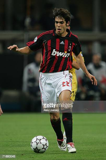 Kaka of AC Milan during the UEFA Champions League Group H match between AC Milan and AEK Athens at the Giuseppe Meazza Stadium on September 13 2006...