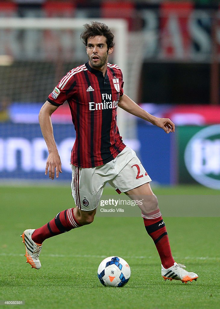 Kaka of AC Milan in action during the Serie A match between AC Milan and US Sassuolo Calcio at San Siro Stadium on May 18 2014 in Milan Italy