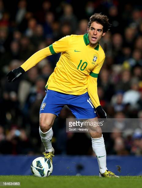 Kaka of Brazil during an International Friendly between Brazil and Russia at Stamford Bridge on March 25 2013 in London England