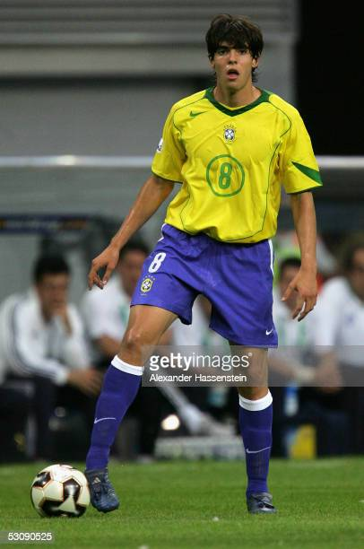 Kaka of Brazil in action during the FIFA Confederations Cup 2005 Match between Brazil and Greece on June 16 2005 in Leipzig Germany