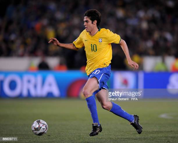 Kaka of Brazil in action during the FIFA Confederations Cup match between Italy and Brazil at Loftus Versfeld on June 21 2009 in Pretoria South Africa