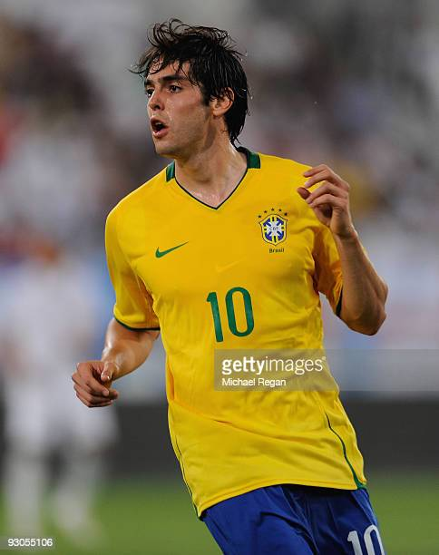 Kaka of Brazil in action during the International Friendly match between Brazil and England at the Khalifa Stadium on November 14 2009 in Doha Qatar