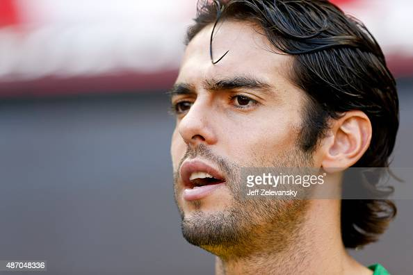 Kaka of Brazil stands on the sidelines during their match against Costa Rica at Red Bull Arena on September 5 2015 in Harrison New Jersey
