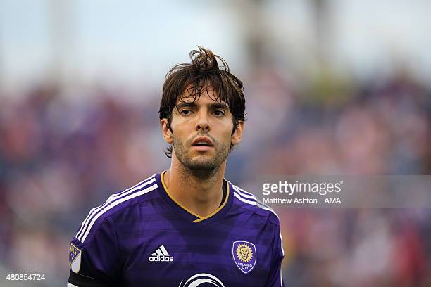 Kaka of Orlando City during the preseason friendly between Orlando City and West Bromwich Albion at Orlando Citrus Bowl on July 15 2015 in Orlando...