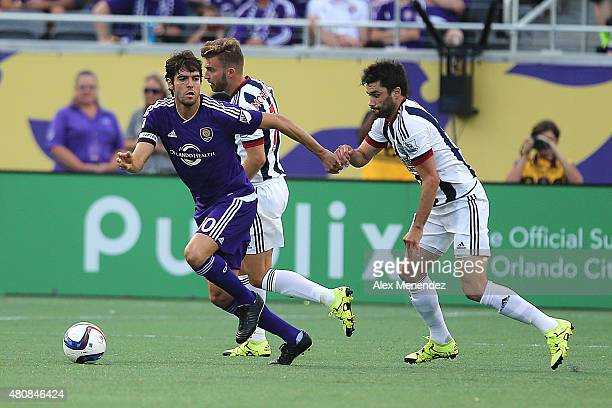 Kaka of Orlando City SC challenges James Morrison of West Bromwich Albion for the ball during an International friendly soccer match between West...