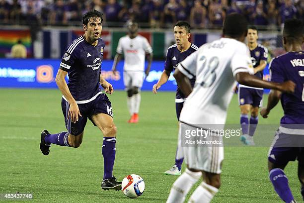 Kaka of Orlando City SC is seen as he dribbles the ball during a MLS soccer match between the Philadelphia Union and the Orlando City SC at the...