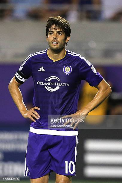 Kaka of Orlando City SC is seen on the field during a MLS soccer match between the Columbus Crew and the Orlando City SC at the Orlando Citrus Bowl...