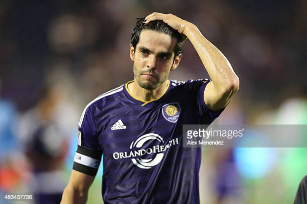 Kaka of Orlando City SC is seen walking off the pitch after a MLS soccer match between the Philadelphia Union and the Orlando City SC at the Orlando...