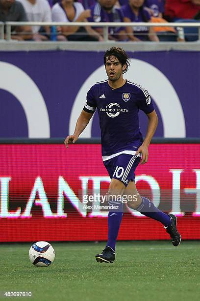 Kaka of Orlando City SC runs with the ball during a MLS soccer match between the Columbus Crew SC and the Orlando City SC at the Orlando Citrus Bowl...