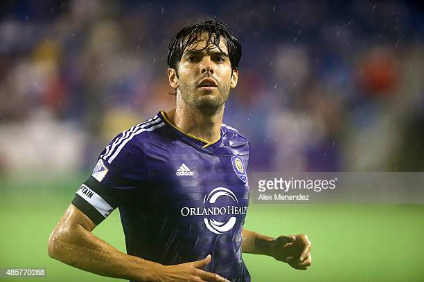 Kaka of Orlando City SC watches the play upfield during a MLS soccer match between the Chicago Fire and the Orlando City SC at the Orlando Citrus...