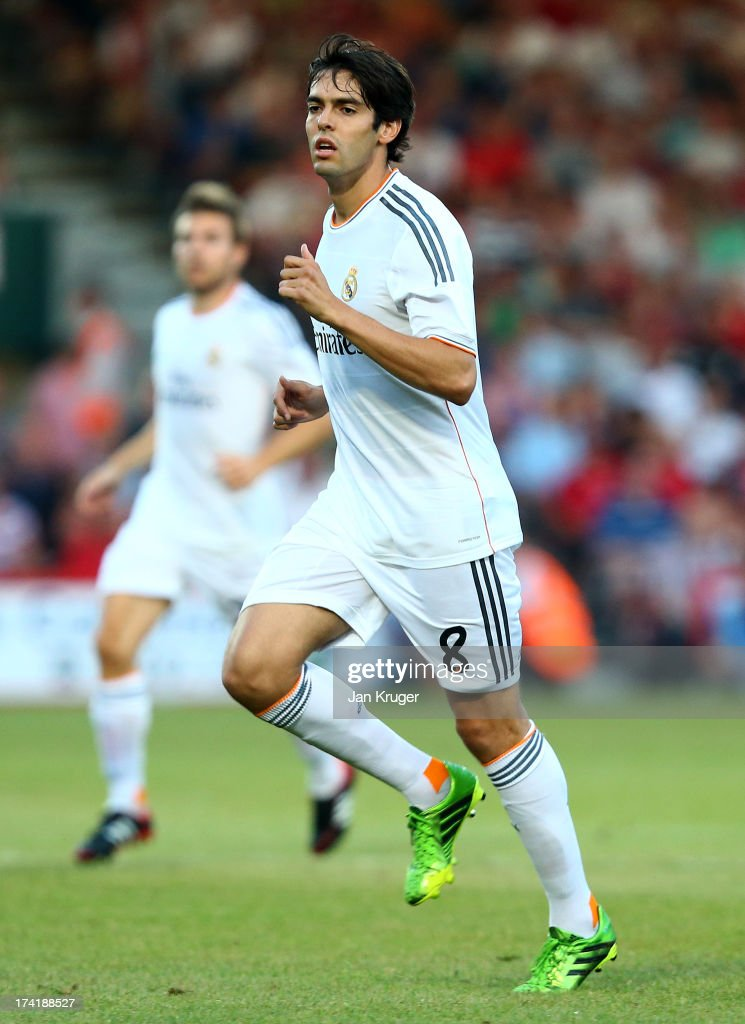 Kaka of Real Madrid looks on during a pre season friendly match between AFC Bournemouth and Real Madrid at Goldsands Stadium on July 21, 2013 in Bournemouth, England.