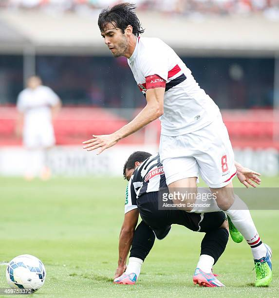 Kaka of Sao Paulo in action during the match between Sao Paulo and Figueirense for the Brazilian Series A 2014 at Morumbi stadium on November 30 2014...