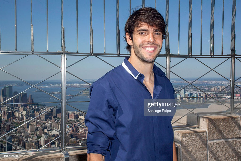 Kaka vists the observatory deck at The Empire State Building on July 24 2015 in New York City