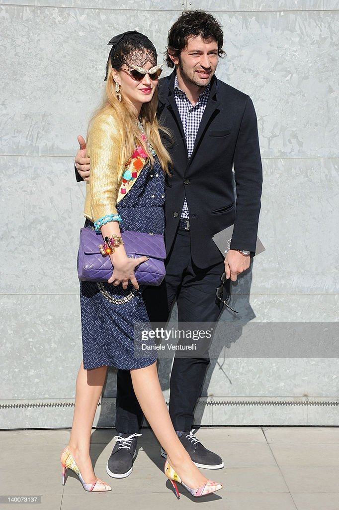 <a gi-track='captionPersonalityLinkClicked' href=/galleries/search?phrase=Kakha+Kaladze&family=editorial&specificpeople=646904 ng-click='$event.stopPropagation()'>Kakha Kaladze</a> and his wife Anuki Kaladze attend the Giorgio Armani Autumn/Winter 2012/2013 fashion show as part of Milan Womenswear Fashion Week on February 27, 2012 in Milan, Italy.