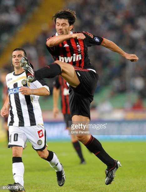 Kakha Kaladze of AC Milan in action during the serie A match between Udinese Calcio and AC Milan at Stadio Friuli on September 23 2009 in Udine Italy