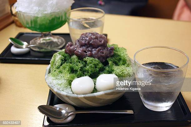 Kakigori with Greentea