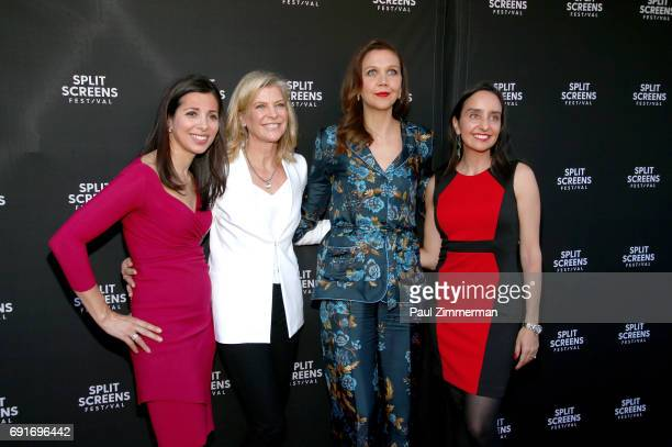 Kal Falkenberg Michelle MacLaren Maggie Gyllenhaal and Raphaela Neihausen attend the 2017 IFC Split Screens Festival 'The Deuce' Premiere at IFC...