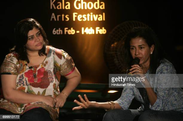 Kala Ghoda Festival 2010 Panel discussing the Delicious variety of food by Rushina M Ghildiyal and Shobha Narayan at Kala Ghod festival Mumbai on...