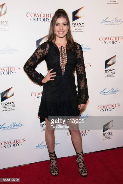 Kalani Hilliker arrives to the premiere of Samuel Goldwyn Films' 'A Cowgirl's Story' at Pacific Theatres at The Grove on April 13 2017 in Los Angeles...