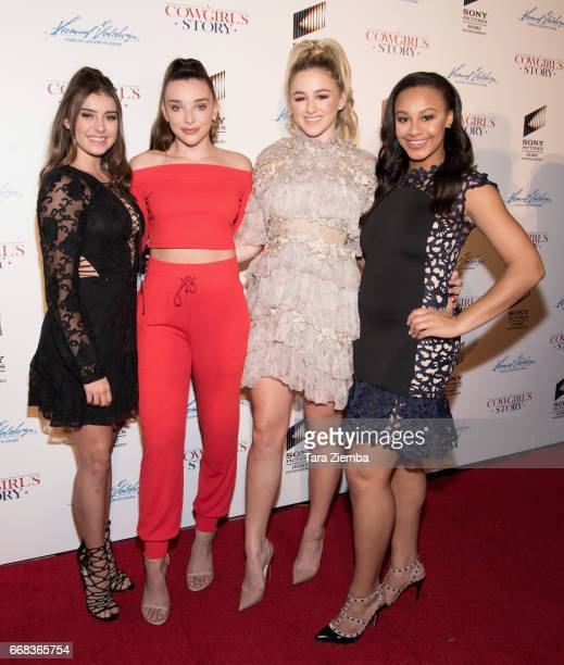 Kalani Hilliker Kendall Vertes Chloe Lukasiak and and Nia Sioux Frazier arrive to the premiere of Samuel Goldwyn Films' 'A Cowgirl's Story' at...