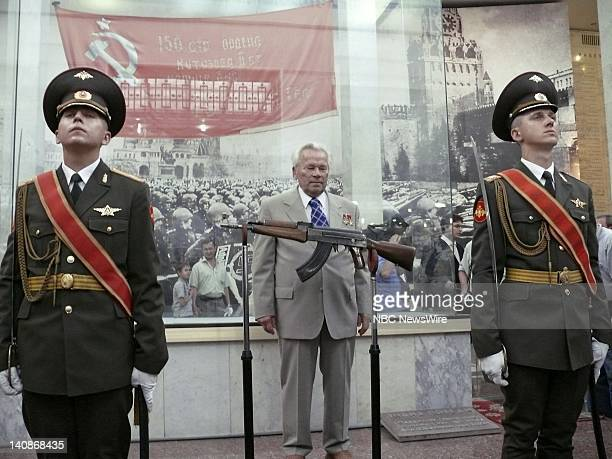 NBC NEWS Kalashnikov 60th Anniversary Pictured Mikhail Kalashnikov speaking at the ceremony celebrating the 60th anniversary of the first Kalashnikov...