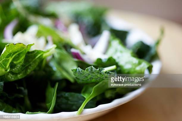 Kale Romain lettuce Red Onion salad