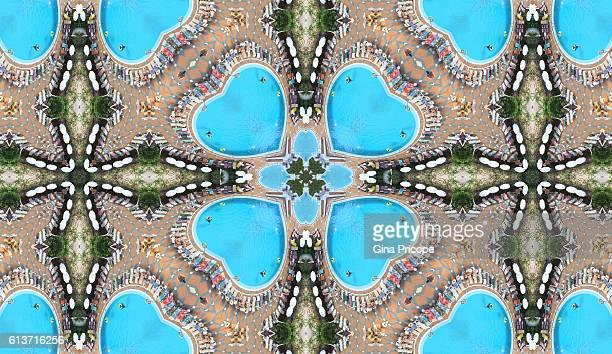 Kaleidoscope effect of waterpark in Tenerife, Spain.
