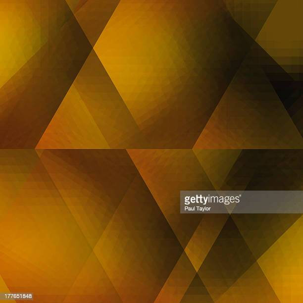 Kaleidoscopic Composition in Gold
