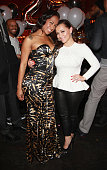 Kaleila Pufolkes and Adrienne Bosh celebrate Michael Beasley's 25th birthday celebration at The General on January 7 2014 in New York City