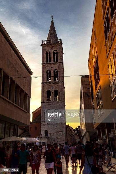 Kalelarga with the Bell Tower of St. Anastasia's Cathedral in backdrop, Zadar