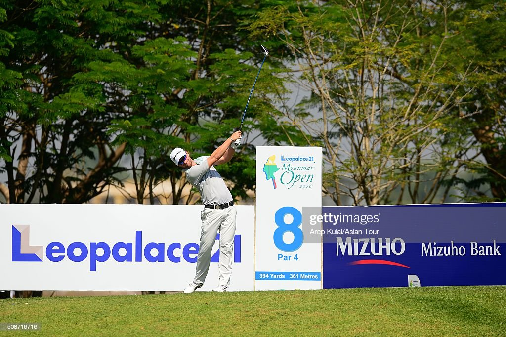 Kalem Richardson of Australia pictured during round three of the Leopalace21 Myanmar Open at Royal Mingalardon Golf and Country Club on February 6, 2016 in Yangon, Myanmar.
