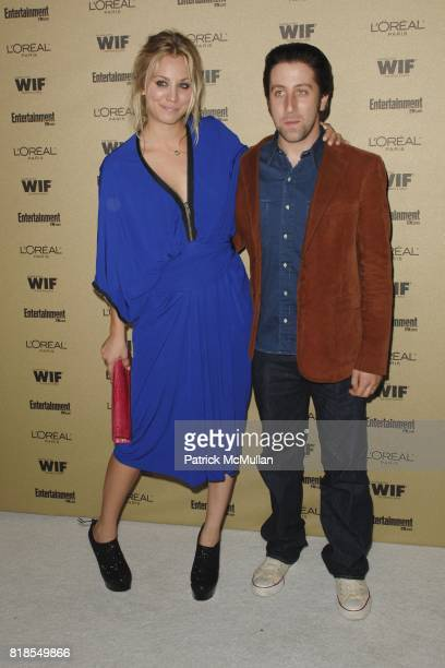 Kaley Cuoco and Simon Helberg attend The 2010 Entertainment Weekly and Women In Film PreEmmy Party Sponsored by L'Oreal Paris at The Sunset Marquis...