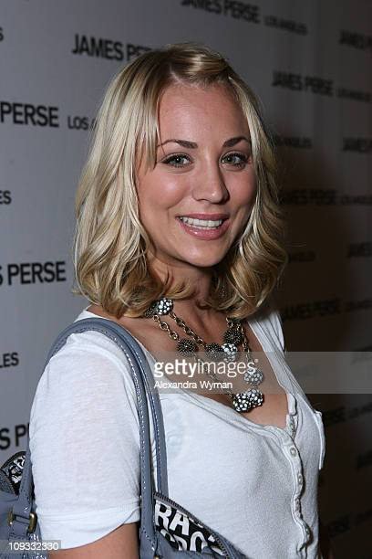 Kaley Cuoco arrives at James Perse Flagship Boutique Opening held on September 27 2007 in Beverly Hills California