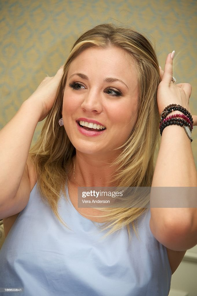 <a gi-track='captionPersonalityLinkClicked' href=/galleries/search?phrase=Kaley+Cuoco&family=editorial&specificpeople=208988 ng-click='$event.stopPropagation()'>Kaley Cuoco</a> at 'The Big Bang Theory' Press Conference at the Four Seasons Hotel on October 30, 2013 in Beverly Hills.