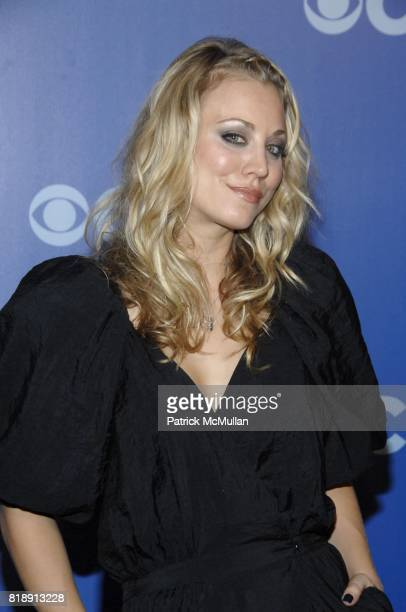 Kaley Cuoco attends CBS UPFRONT 2010 at Damrosch Park on May 19 2010 in New York City
