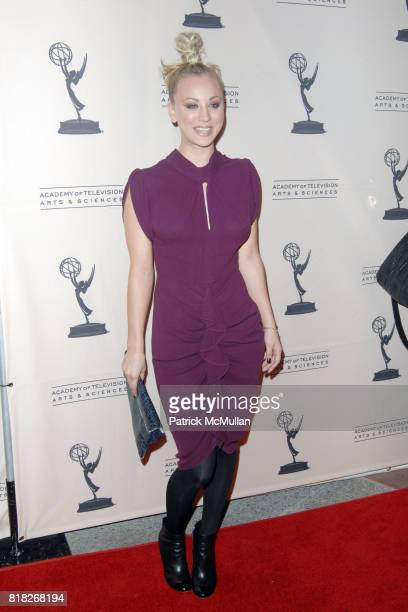 Kaley Cuoco attends The Academy of Television Arts and Sciences Presents an Evening with 'The Big Bang Theory' at North Hollywood on February 18 2010