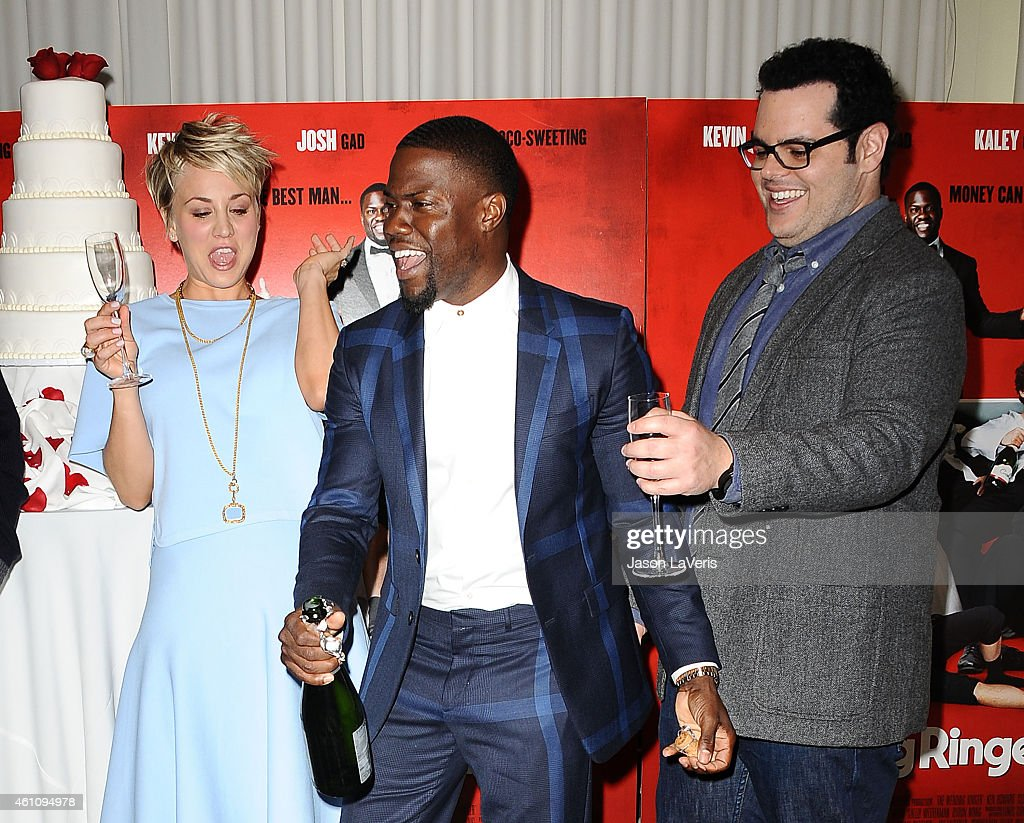 Kaley Cuoco Kevin Hart And Josh Gad Attend The Wedding Ringer Photo Picture