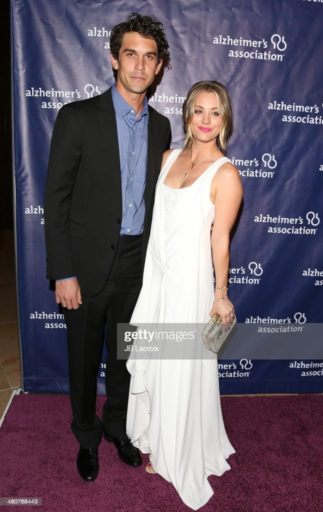 Kaley Cuoco-Sweeting and Ryan Sweeting attend 'A Night At Sardi's' To Benefit The Alzheimer's Association held at the Beverly Hitlon Hotel on March 26, 2014 in Beverly Hills, California.