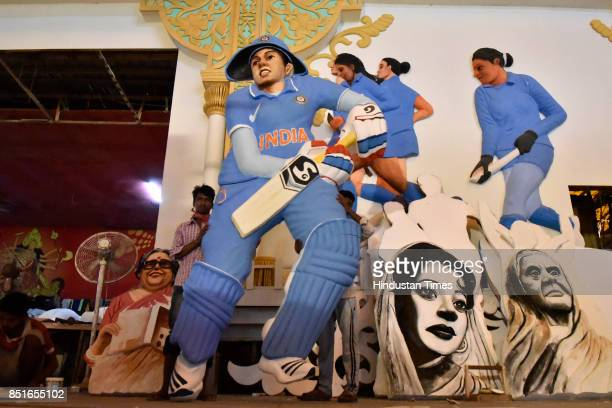 Kali Bari in Safdarjang Enclave have a theme about women empowerment during this year's Durga Puja in which cricketers athletes and other women...