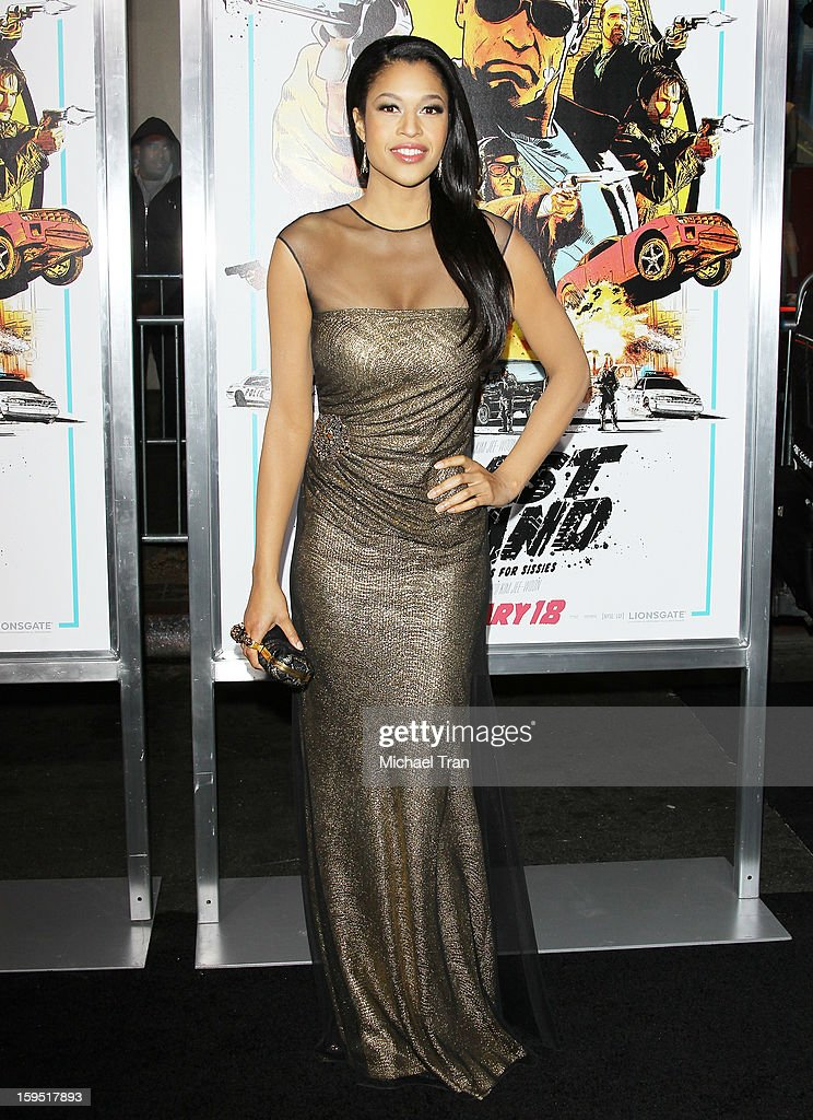 Kali Hawk arrives at the Los Angeles premiere of 'The Last Stand' held at Grauman's Chinese Theatre on January 14, 2013 in Hollywood, California.