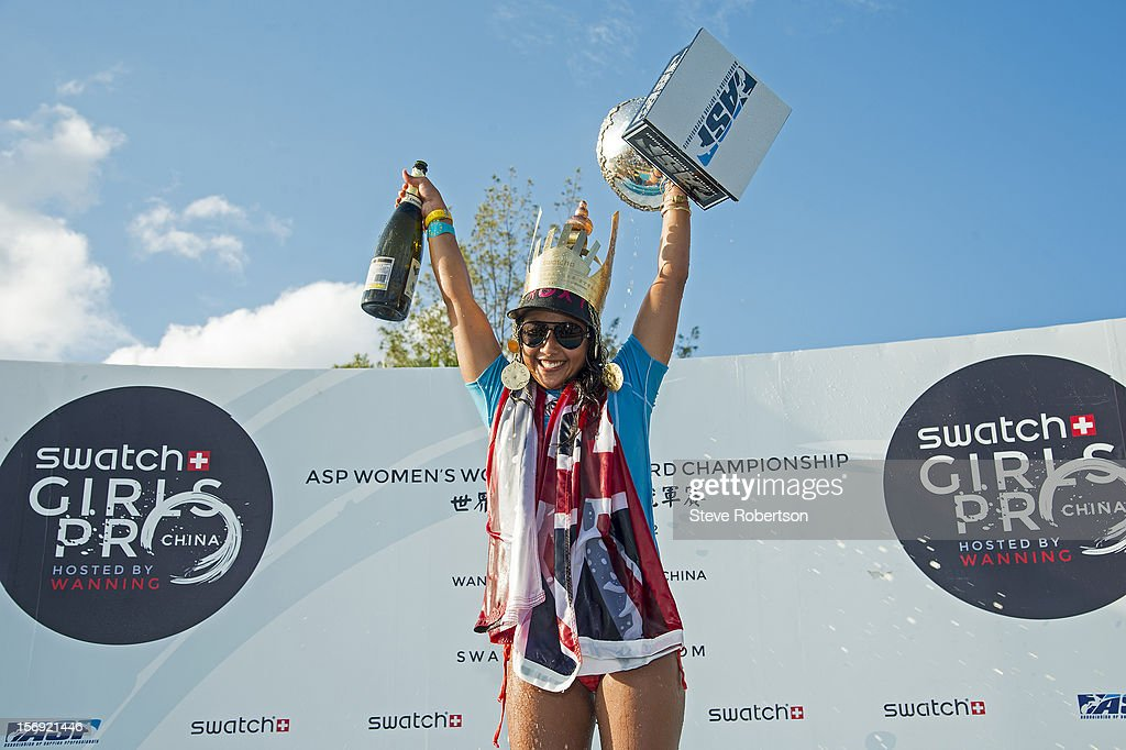 Kalia Moniz of Hawaii won the SWATCH Girls Pro China defeating Australian Chelsea Williams in a high scoring final. Moniz is also crowned ASO 2012 Women's World Longboard Champion on November 25, 2012 in Hainan Island, China.