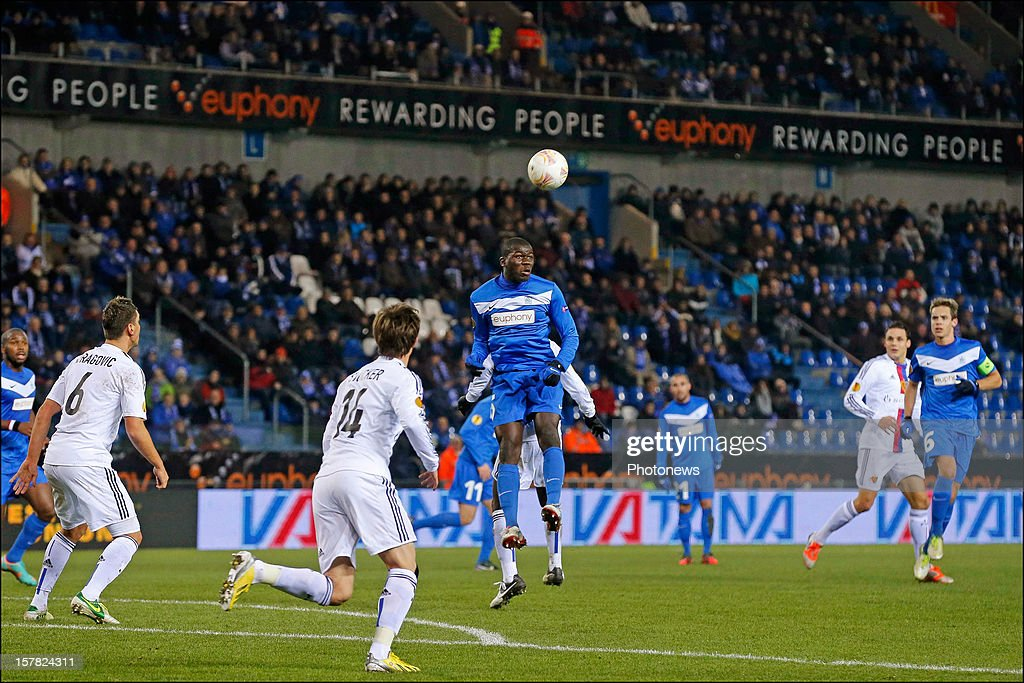 Kalidou Koulibaly of KRC Genk during the UEFA Europa League group G match between KRC Genk and FC Basel 1893 at the Cristal Arena stadium on December 06, 2012 in Genk, Belgium. (Photo by Jan De Meuleneir/Photonews) via Getty Images)