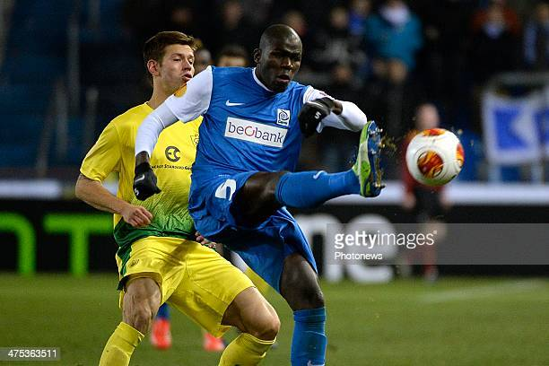Kalidou Koulibaly of KRC Genk during the UEFA Europa League Round of 32 second leg match between KRC Genk and FC Anji Makhachkala at the Cristal...