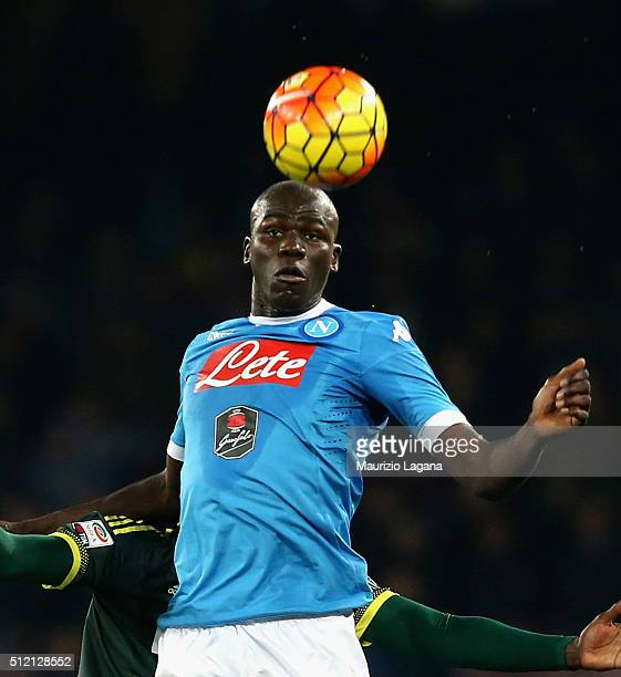 Kalidou Koulibaly of Napoli during the Serie A between SSC Napoli and AC Milan at Stadio San Paolo on February 22 2016 in Naples Italy