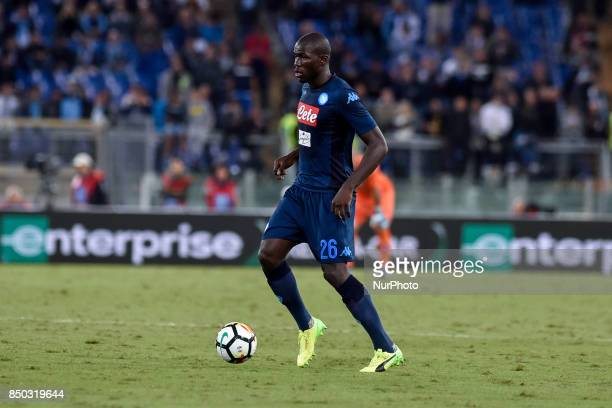 Kalidou Koulibaly of Napoli during the Serie A match between Lazio and Napoli at Olympic Stadium Roma Italy on 20 September 2017
