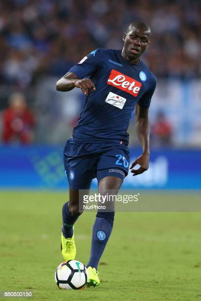 Kalidou Koulibaly of Napoli during the Serie A match between SS Lazio and SSC Napoli at Stadio Olimpico on September 20 2017 in Rome Italy